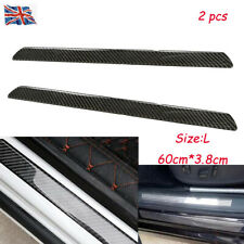2x L Carbon Fiber Car SUV Scuff Plate Step Guard Protector Door Sill Cover Panel