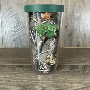 Tervis Real Tree 16OZ Travel Tumbler Camouflage Camo Wrap W/ Green Lid Hot Cold