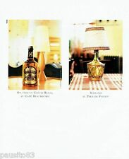 PUBLICITE ADVERTISING 116  1996   Chivas  whisky au café Beaubourg
