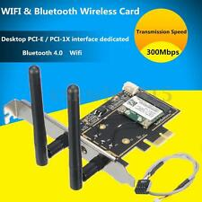 BCM943142HM 300Mbps Bluetooth 4.0 Wifi PCI-E Card Desktop Network Adapter Set
