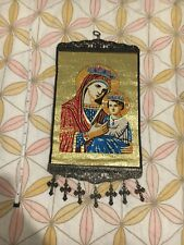 Woven Religious tapestry wall hanging orthodox catholic icon Style 222