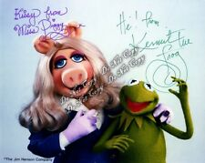 Miss Piggy Kermit the Frog Signed Photo Muppets Jim Henson 8x10 rp Kids Room Fun
