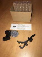 Mic For Snare Drum Rack Tom Floor Toms Cajon Bongos PDKM7-B+ Microphone Rim Clip