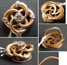 Coulant passant de collier en OR et diamants ancien 19e siècle gold pendant