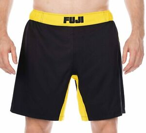 Fuji MMA BJJ Mens No Gi Essential Grappling Competition Fight Shorts - Yellow