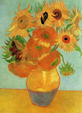 "VAN GOGH ~ Sunflowers ~ A3 CANVAS PRINT ~ 18""X 12"""