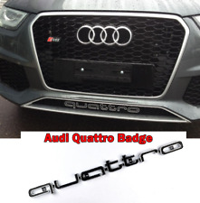 GRADE B AUDI QUATTRO GRILL BADGE LOGO RS3 RS4 RS7 A1 A3 A4 A5 A6 S3 S4 S5 Q7 TT