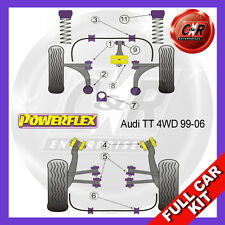 Audi TT Coupe 8N Quattro Powerflex Complete Bush Kit - Early Models, Race W/bone