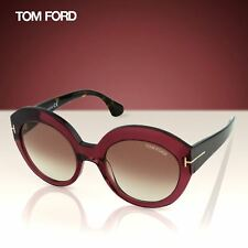 e6b92aa282ab Tom Ford Rachel FT0533 71F Women Burgundy Red Thick Frame Cat-Eye Sunglasses