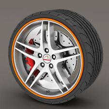 Orange Rimblades Alloy Wheel Edge Ring Rim Protectors Tyres Tire Guard Rubber
