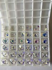 CHRISTMAS TREE EARRING KIT made with SWAROVSKI CRYSTAL AB BEADS for 5 pair CLEAR