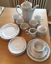 Seltmann Weiden Bavaria Julia blau Blume 6 Personen Kaffeeservices komplett
