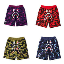 Shark Head Shorts Bape Men Camo Beach Short Pants A Bathing Ape Sweatshorts
