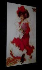 Original 1980s Budweiser Girl Promotional Poster Antique Art