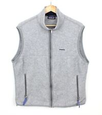 Patagonia Synchilla Grey Gilet Sleeveless Fleece Jacket Body Warmer USA - L