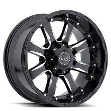 "18"" Black Rhino Sierra Wheels Rims Chevy GMC Dodge RAM 8x6.5 8 Lug 2500 3500"