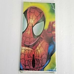 Spider Man Table Plastic Cover 54 x 102 Marvel Kids Party Express Hallmark 2005