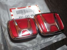 Front + Rear Emblems H red Genuine JDM Honda Civic Ek9 Type-R  96-00 (EG 92-95)