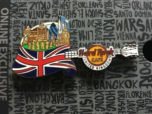 HARD ROCK CAFE FLAG OVER CITY PIN UNITED KINGDOM