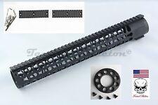 "15"" Inch Free Float Keymod Handguard Rail System With END CAP 223 556 300 BO"