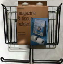 NEW! InterDesign Wallmount Magazine and Tissue Holder - Bronze