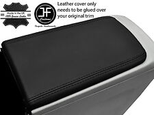 BLACK STITCH ARMREST LID REAL LEATHER COVER FITS TOYOTA PRIUS PLUS 2012-2016