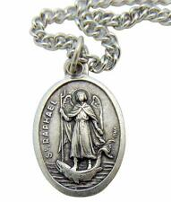 "St Raphael Patron Saint Medal 3/4"" with Stainless Steel Chain from Italy"