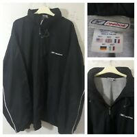Black Reebok Full Zip Windbreaker Concealed Hood Sports Jacket Size 3XLT
