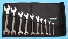 STAHLWILLE Germany 10/10 Metric Double Open End Wrench Set with Tool Roll