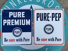 top quality PURE OIL COMPANY porcelain coated 18 GAUGE steel SIGN