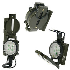 Metal Lensatic Compass Military Camping Hiking Army Survival Marching 2016