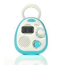 New!Pyle Bluetooth Splash Proof Water Resistant Alarm Clock Radio
