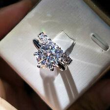 2 Ct Diamond Engagement Solitaire Wedding Ring Bridal Set 10K White Real Gold