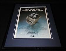 1980 Jostens Super Bowl XIV Ring 11x14 Framed ORIGINAL Vintage Advertisement
