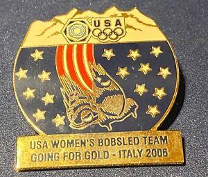 TORINO 2006 -  USA NOC WOMEN`S BOBSLED TEAM PIN very large pin