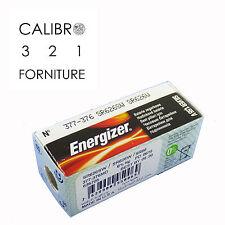 10 batterie ENERGIZER 377-376 SR626SW SR626W SR66 x orologi 1,55V 0%mercury