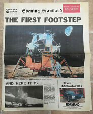1969 Evening Standard Newspaper Apollo 11 Man Lands on the Moon Star Trek Wars
