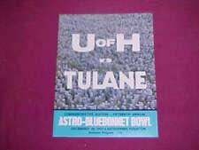 BLUEBONNET BOWL Program - TULANE  HOUSTON - 1973 - MINT