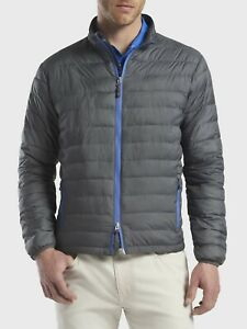 NWT~PETER MILLAR CROWN SPORT HYPERLIGHT QUILTED JACKET~GREY~ SMALL~ MRSP $195