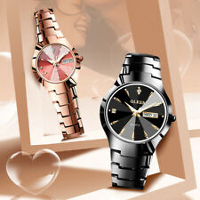 OLEVS Women Tungsten Steel Quartz Wristwatch Waterproof Men Watches Couples Gift