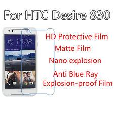 3pcs per HTC 830 opaco, Desire ANTI GRAFFIO ESPLOSIONE Anti Protezione Schermo