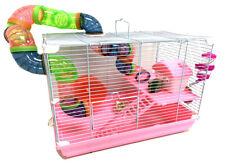 2-Floors Syrian Hamster Home Rodent Gerbil Mouse Mice Habitat Cage Wheel bottle