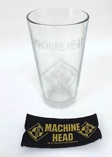 Machine Head 3 pc. Beer Pint Glass Patch Set 1994 Blue Grape Vintage Metal Merch