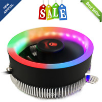 RGB Multi-Color CPU Heatsink Fan Cooler Intel LGA1156 / 1155 / 775 / 1150 Socket