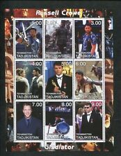 Tajikistan Commemorative Souvenir Stamp Sheet - Gladiator - Russell Crowe