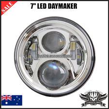 """Chrome 7"""" LED Headlight daymaker Ducati Kawasaki Honda Suzuki Yamaha scrambler"""