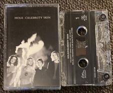 "Hole - Celebrity Skin ORIGINAL 1998 U.S. CASSETTE TAPE ""Malibu"" Courtney Love"