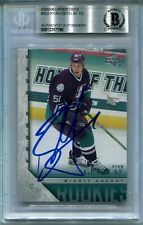 RYAN GETZLAF signed 2005-06 UPPER DECK YOUNG GUNS YG ROOKIE CARD RC BECKETT BAS