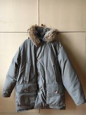 Bellissimo Woolrich Artic Parka Originale Grigio Usato Taglia L