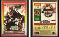 Tim Krumrie Signed 1990 Score #237 Card Cincinnati Bengals Auto Autograph